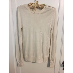 Equipment cashmere/silk cream sweater